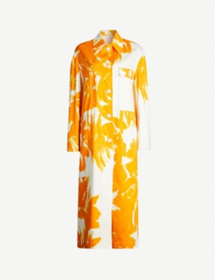DRIES VAN NOTEN Floral-print cotton coat