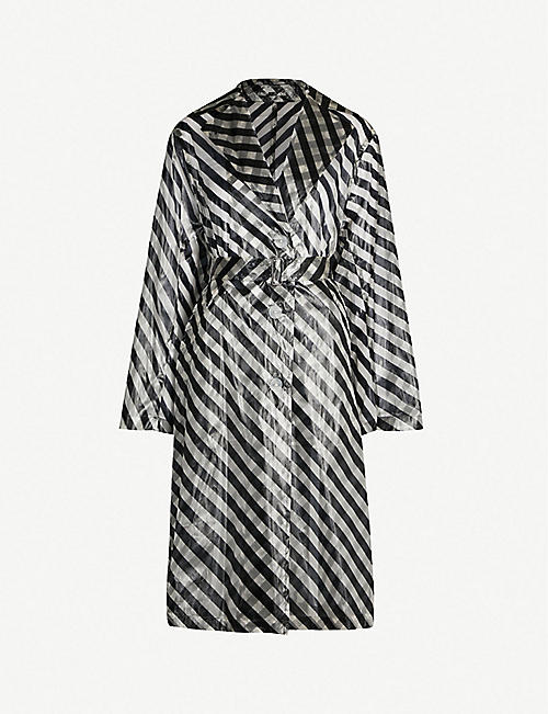 cd8d7a233d7 DRIES VAN NOTEN Striped woven trench coat