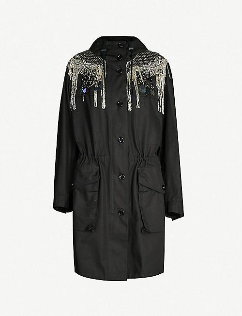 14bdea9367 DRIES VAN NOTEN Drawstring-hood cotton parka jacket