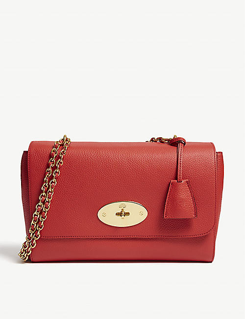 440458afa7490 MULBERRY Lily grained-leather medium shoulder bag
