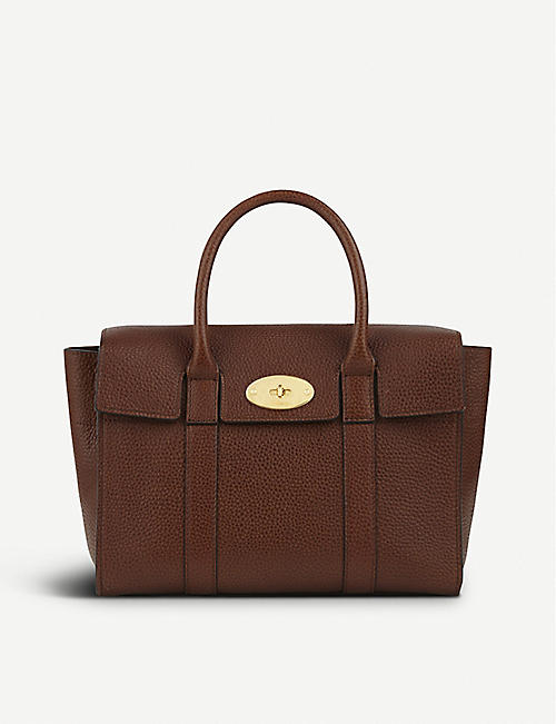 dc3276eee9c3 MULBERRY Bayswater small grained leather tote