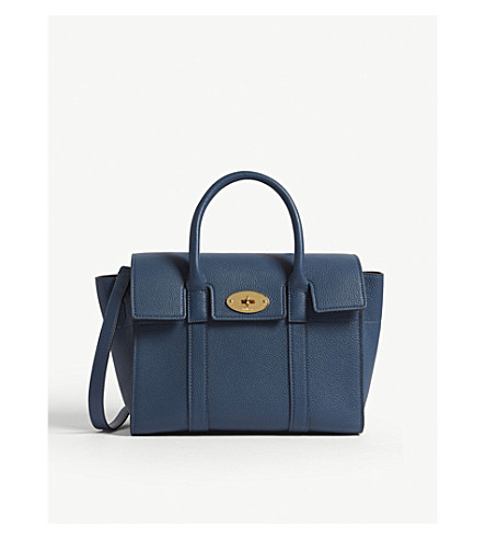 766d4b566816 ... MULBERRY Bayswater small grained leather tote (Deep+sea. PreviousNext