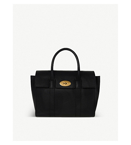 11bbbaa3cf24 ... MULBERRY Bayswater small grained leather tote (Black. PreviousNext