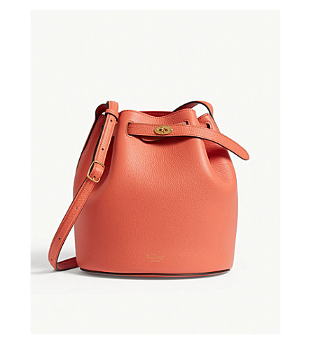 ... MULBERRY Abbey leather bucket bag (Coral+rose. PreviousNext 2f2a06af05467