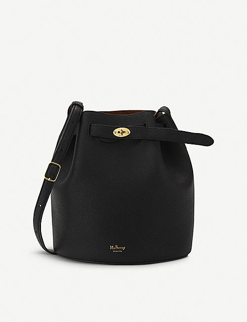 bd81b7c0443a MULBERRY - Abbey leather small bucket bag