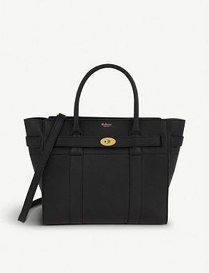 MULBERRY Bayswater small grained-leather tote bag