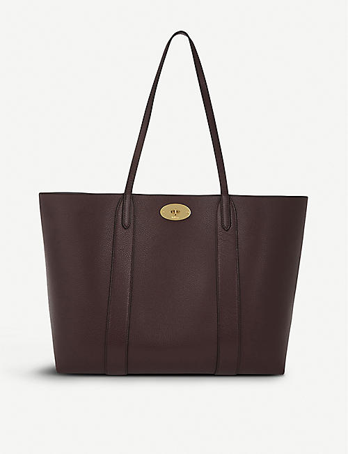 MULBERRY: Bayswater small grained-leather tote