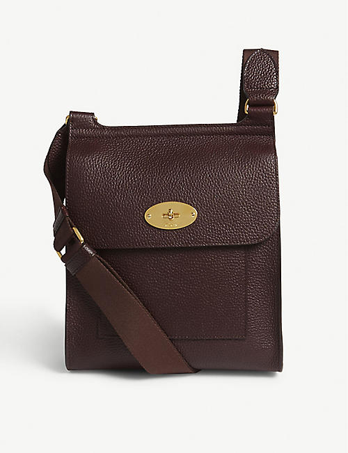 MULBERRY: Antony small grained-leather messenger bag