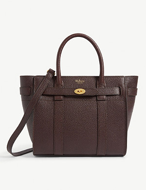 MULBERRY Bayswater mini grained-leather tote bag