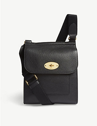 MULBERRY: Antony small grained leather messenger