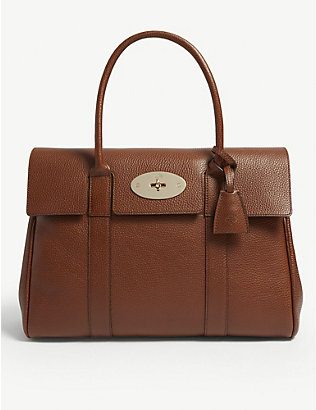 MULBERRY: Bayswater grained-leather tote bag