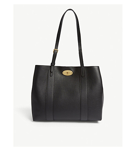 MULBERRY Bayswater small grained leather tote (Black 371660da41aea
