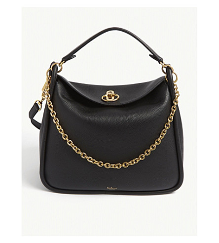 13479c120b28 MULBERRY - Leighton grained leather shoulder bag