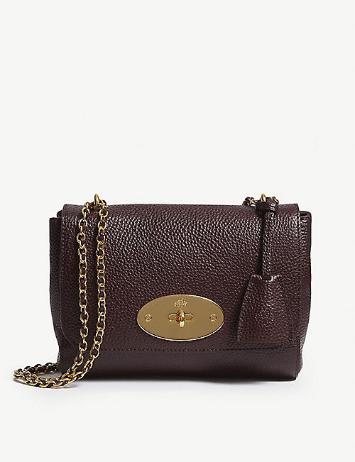 65f0eb6464f MULBERRY Lily grained-leather shoulder bag