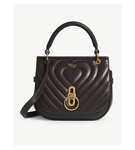 e7597f6ded9d ... MULBERRY Amberley small quilted heart leather cross-body bag  (Chocolate+brown. PreviousNext