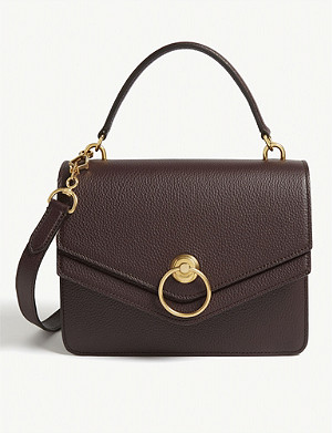 MULBERRY Harlow grained leather satchel