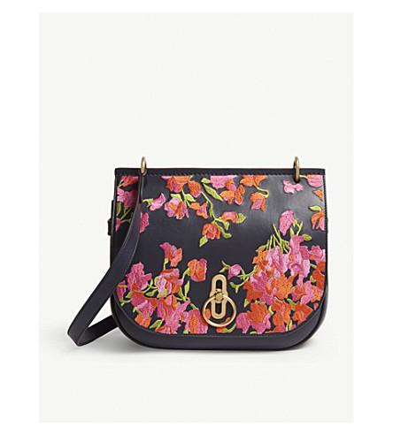 9171b4f65b MULBERRY Amberley medium floral leather cross-body bag (Midnight