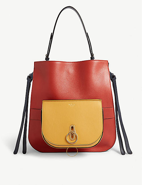 36edd2fe70c MULBERRY Amberley leather shoulder and cross-body bag set