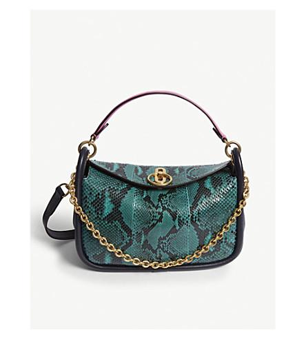 cd934516305b MULBERRY - Leighton small python leather satchel