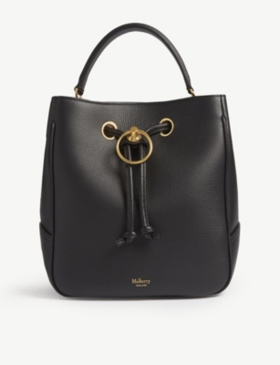 Hampstead Leather Medium Bucket Bag by Mulberry