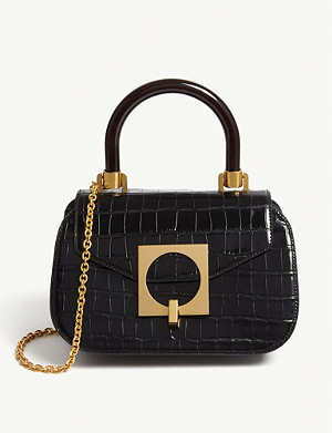 MULBERRY Mews croc-embossed leather top handle