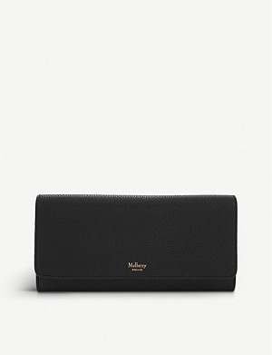 MULBERRY Grained leather continental wallet