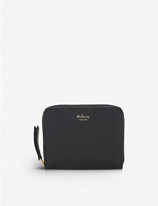 MULBERRY: Small grained leather purse