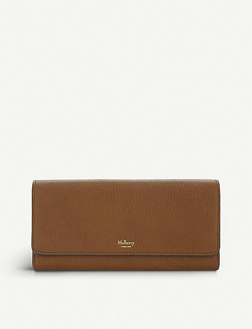MULBERRY Grained leather continental wallet cf22a4a4a5926