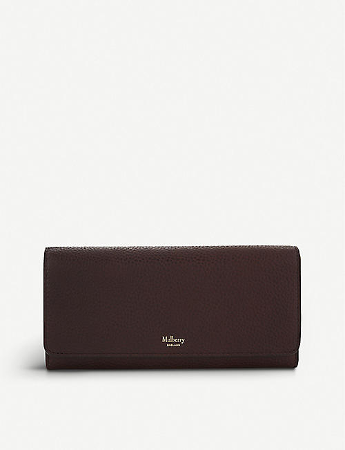 400bd82f6337 MULBERRY Grained leather continental wallet