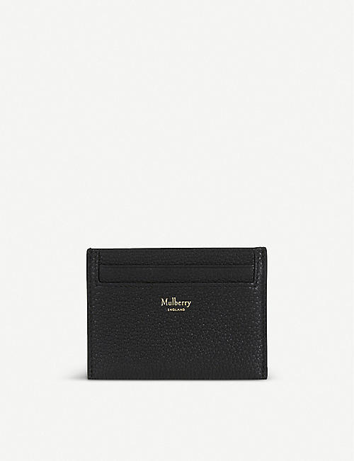 MULBERRY: Grained leather card holder