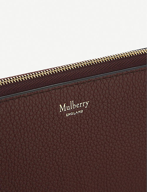 c66a280aa MULBERRY 8 CC grained leather zip-around wallet