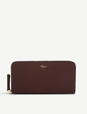 MULBERRY 8 CC grained leather zip-around wallet