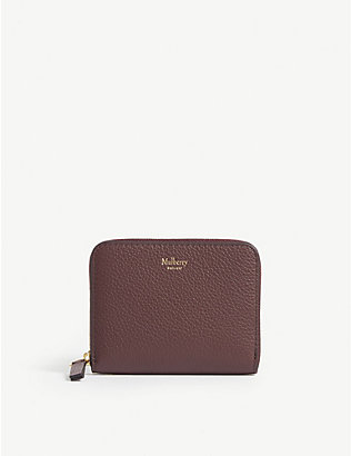 MULBERRY: Logo small grained leather purse