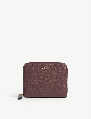MULBERRY Logo small grained leather purse