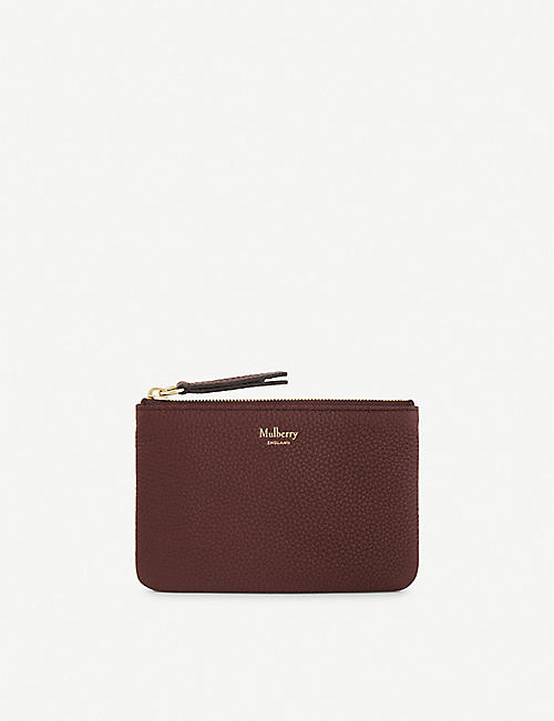 MULBERRY: Small grained leather coin pouch