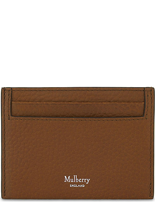 MULBERRY: Grained-leather card holder