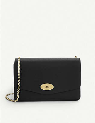 MULBERRY: Small Darley leather clutch
