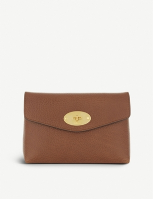 MULBERRY Darley small grained leather pouch