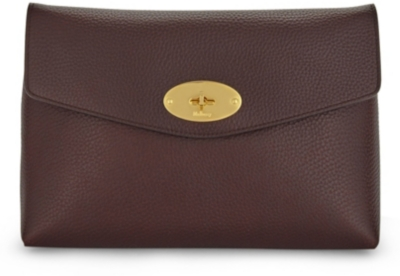 MULBERRY Darley large leather cosmetic pouch