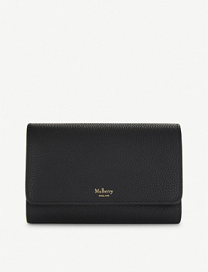 MULBERRY French medium grained leather continental wallet