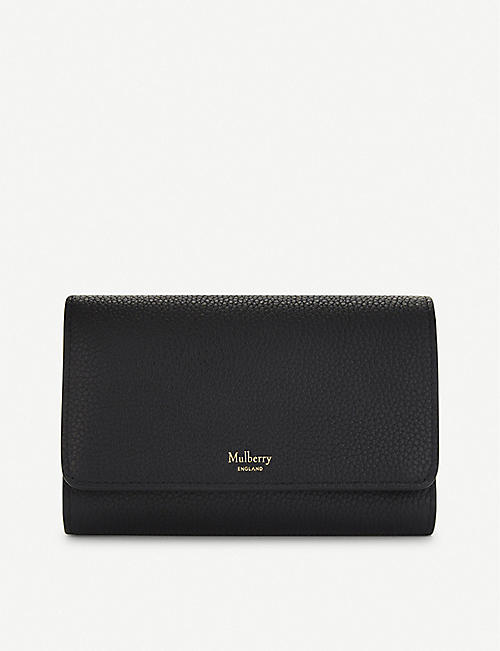 e1e4932ec9142 MULBERRY French medium grained leather continental wallet