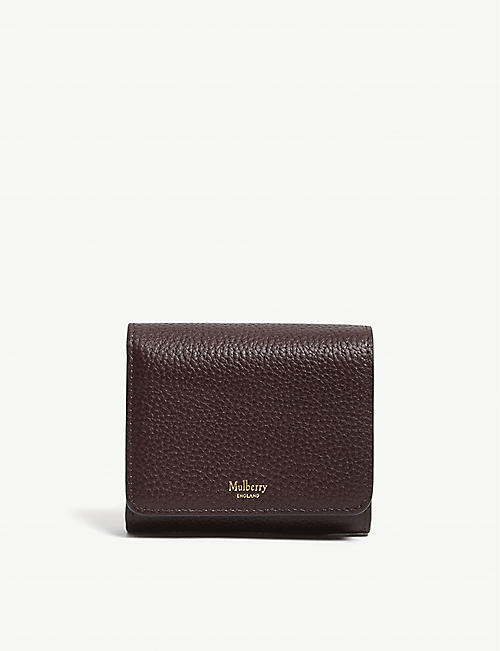 MULBERRY: Grained leather continental wallet
