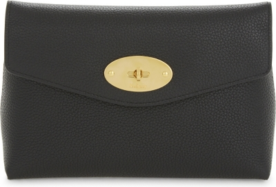 MULBERRY Darley small grained leather cosmetic pouch