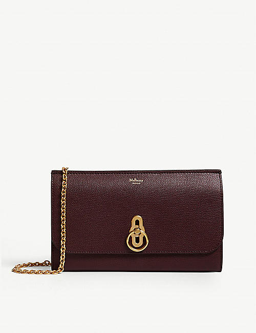 MULBERRY: Leather wallet-on-chain