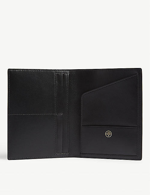 MULBERRY Natural grain leather passport holder
