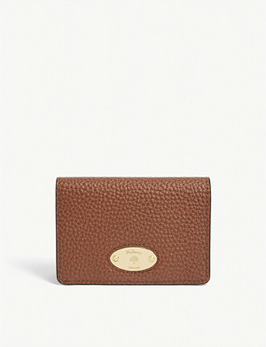 MULBERRY Logo plaque leather card holder