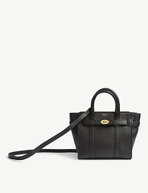MULBERRY Bayswater micro grained leather bag