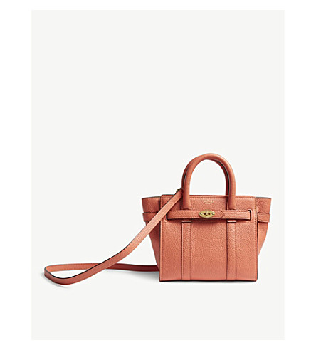 66b8b402b2 MULBERRY Bayswater micro grained leather bag (Coral+rose