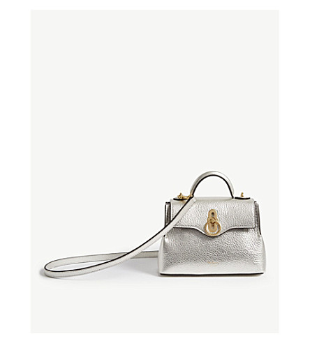 7f1e14aace56 ... MULBERRY Micro Seaton metallic leather shoulder bag (Light+silver.  PreviousNext