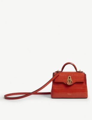 MULBERRY Croc-effect Micro seaton shoulder bag